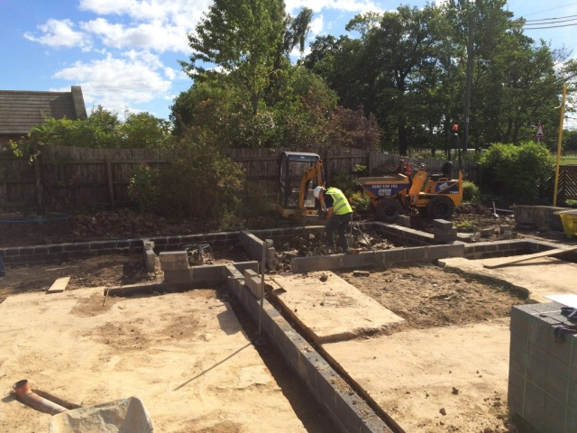 Linton DMC, undertaking of foundations to new ICF home.